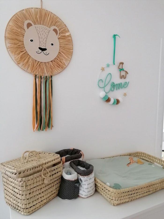 décoration chambre enfant girafe