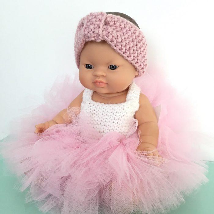 bandeau en laine pour poupée